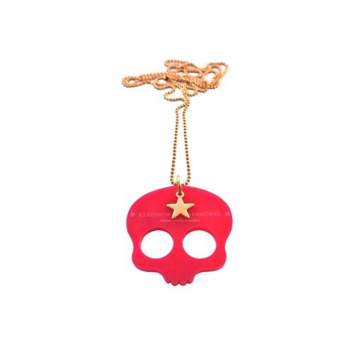 """Cute Skull"" pendant - fuchsia"