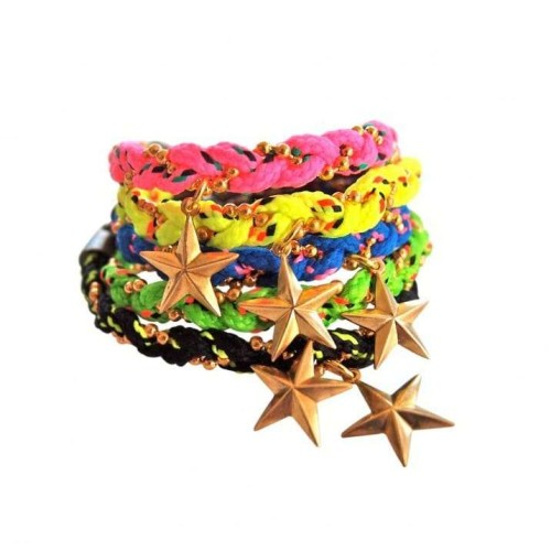 Fluo Star bracelet