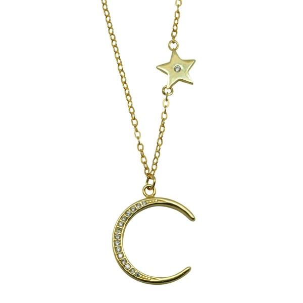 Gargantilla Luna de circonitas con estrella