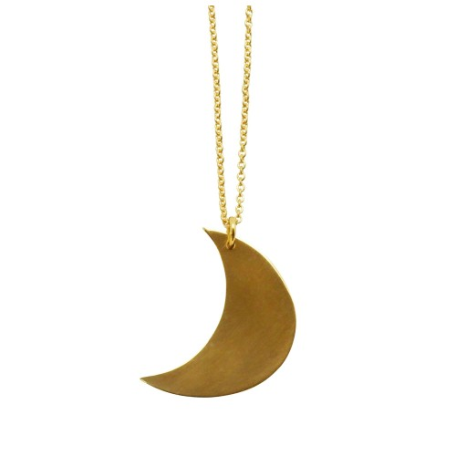 Goldplated 18K Crescent Moon necklace