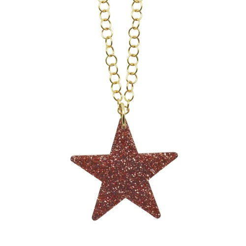 Light Pink Glitter Star pendant