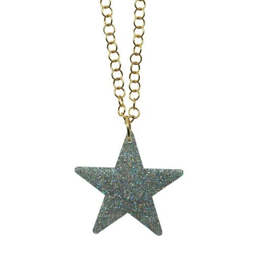 Silver Glitter Star pendant