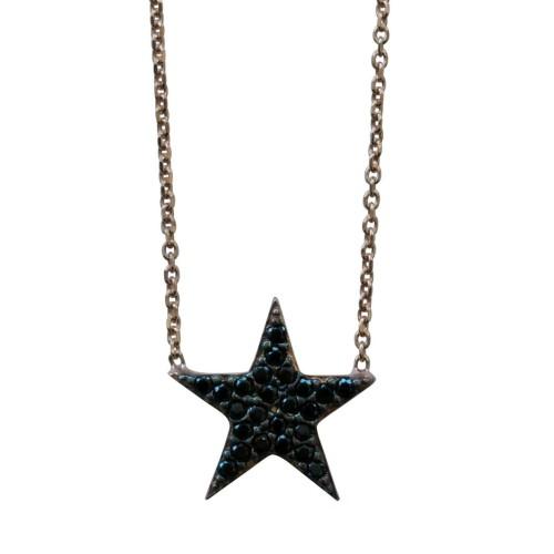 Black Little Star Necklace