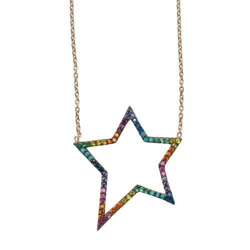 """Rainbow Star"" Necklace"