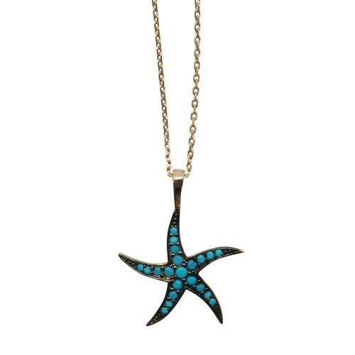 """Blue Starfish"" Necklace"