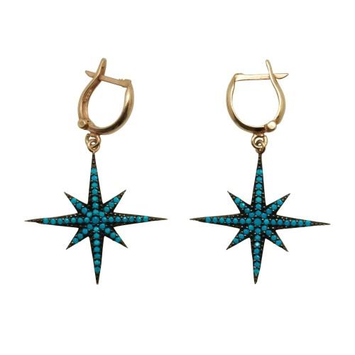 """""""Blue Star"""" Earrings"""