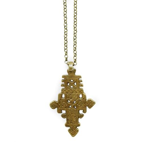 Boho Cross pendant