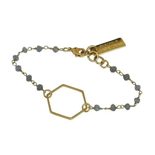 Goldplated Hexagon bracelet
