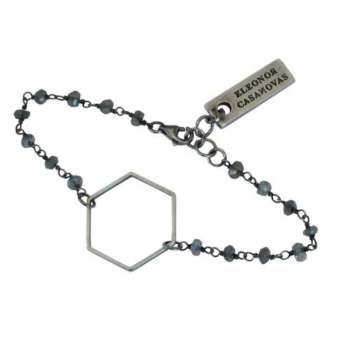 Silverplated Hexagon bracelet