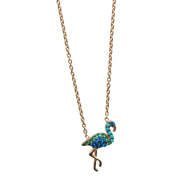 "Collar ""Blue Flamingo"""