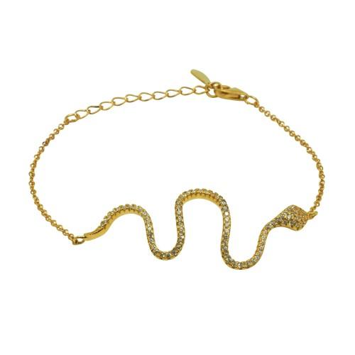 """Pulsera """"Golden Snake"""""""