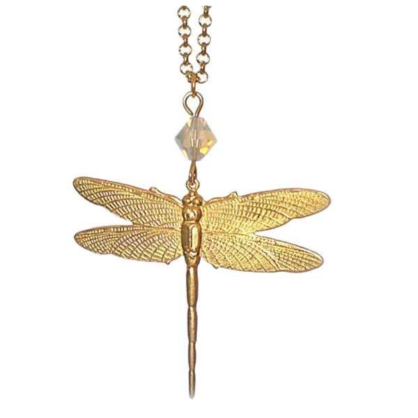 Drafonfly pendant with White swarovski