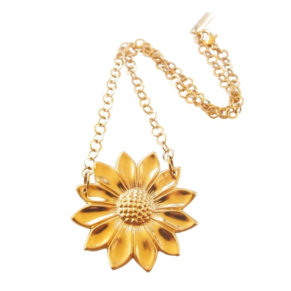 "Collar ""Sunflower"" chapado en oro"