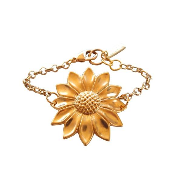 "Pulsera ""Sunflower"" chapada en oro"