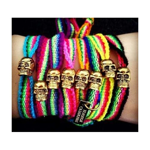 Pack de 2 pulseras Tribal Skulls