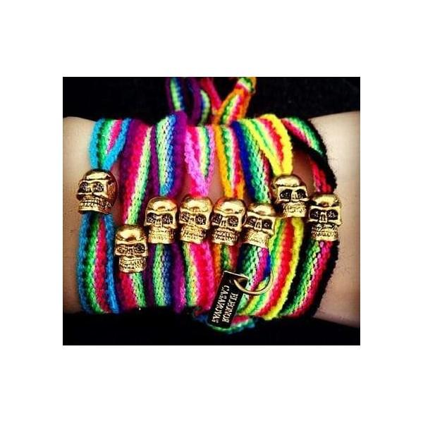 Pack of 2 Tribal Skull bracelets