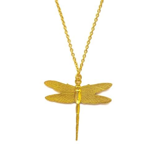 Gargantilla mini libélula chapada oro
