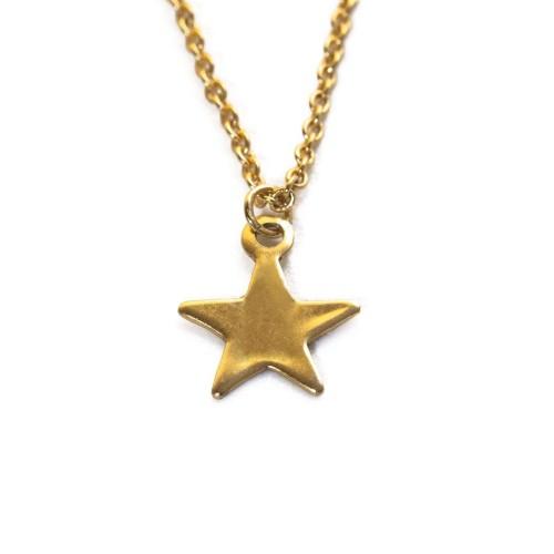Gargantilla mini Estrella chapada oro