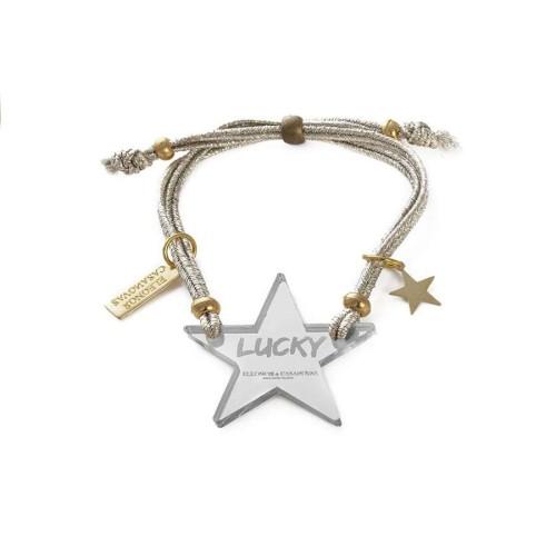 Pulsera Lucky Star espejo plata