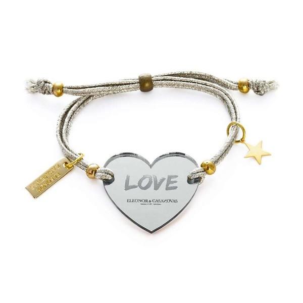 Pulsera Lucky Love espejo plata