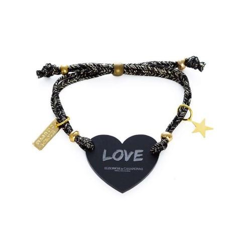 Pulsera Lucky Love negra