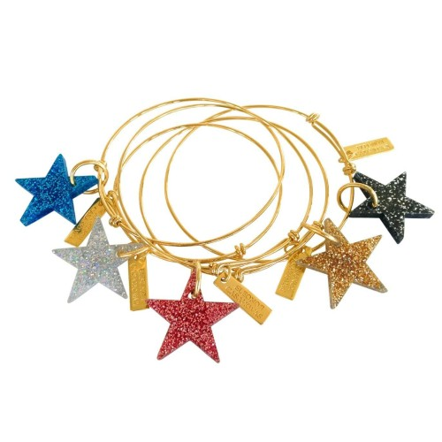Pulsera regulable Glitter Chic chapada oro