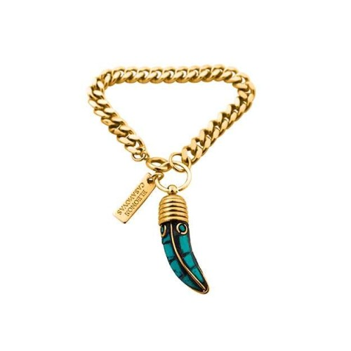 Turquoise tooth bracelet