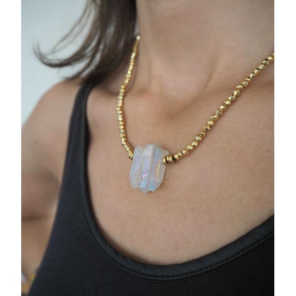 Hematite and Quartz Necklace