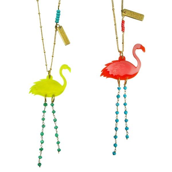 Flamingo Chic pendant