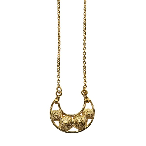 Small 18K Goldplated filigree Moon necklace