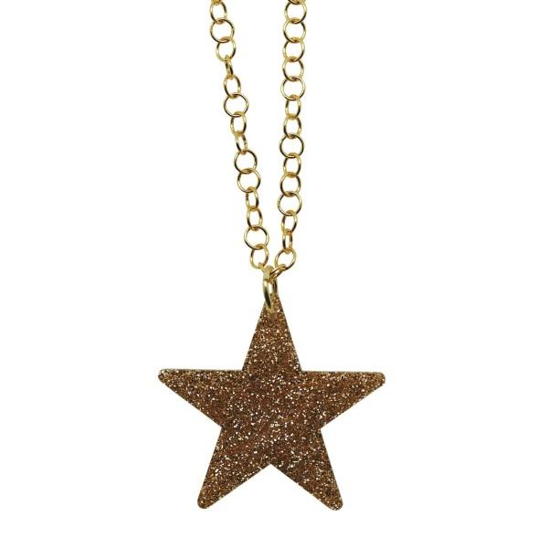 Colgante Glitter Star