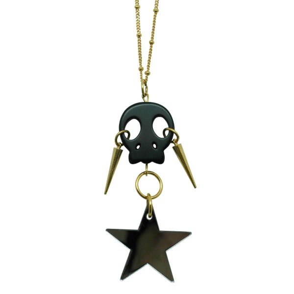 Skull & Star pendant with spikes