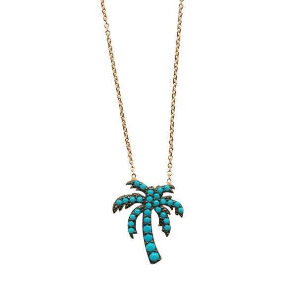 """Collar """"Blue Palm Tree"""""""