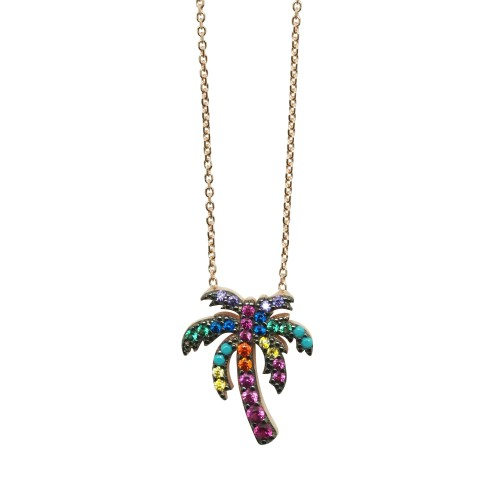 """""""Tropical Palm Tree"""" Necklace"""