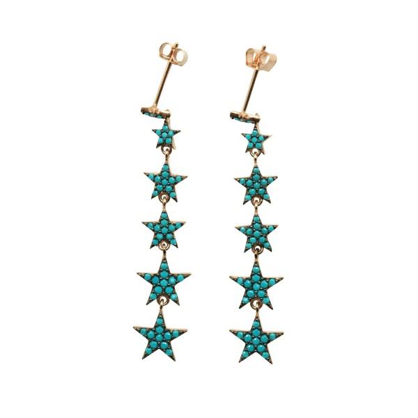 """""""Stars Cascade"""" Earrings"""
