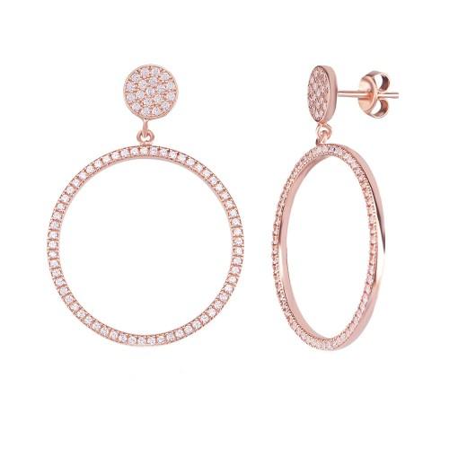 Silver Gold-plated Hoop earrings