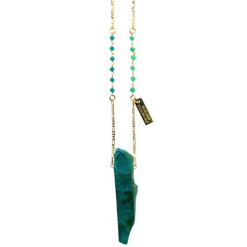 Green Agatha pendant