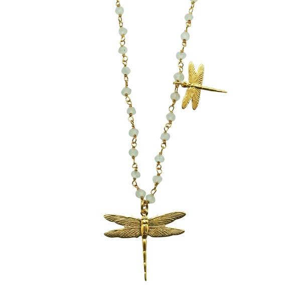 "Collar ""Two Dragonflies"""