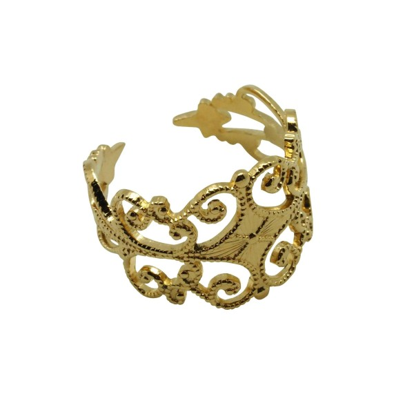 Filigree 18K Gold-plated Ring