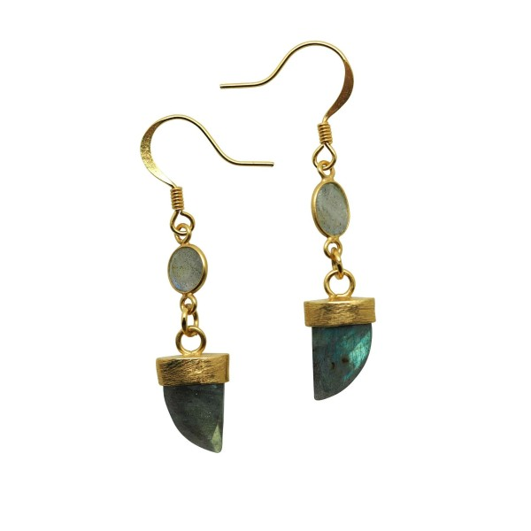 Labradorite mini Horn earrings