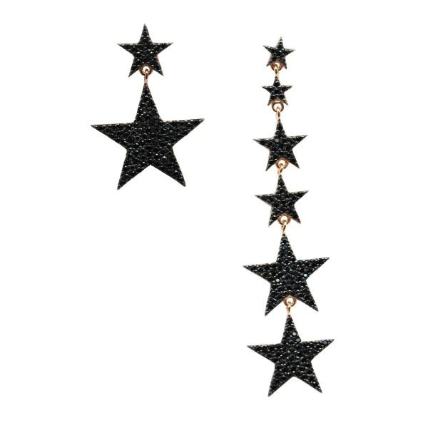 """Pendientes """"Magic Stars"""" Black"""