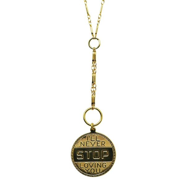 """Collar Medalla """"I will never STOP loving you"""""""