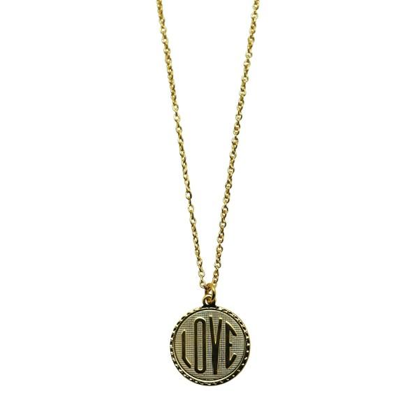 "Collar Medalla ""LOVE"""