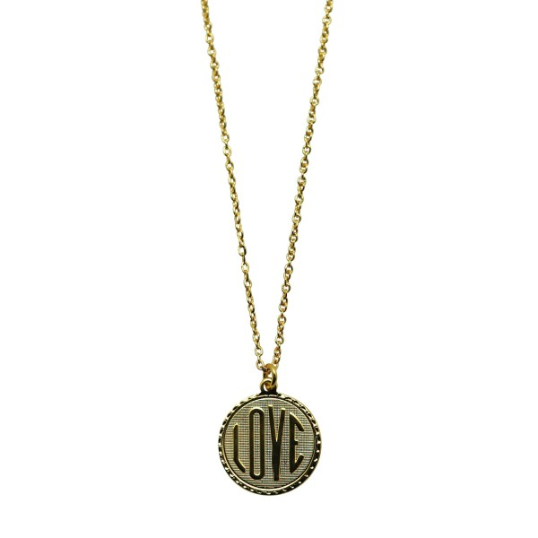"""LOVE"" coin Necklace"