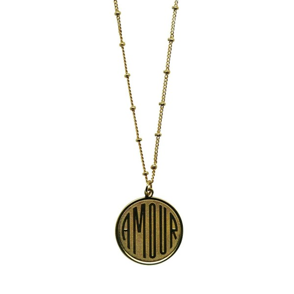 """AMOUR"" coin Necklace"