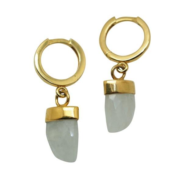 Moonstone Horn earrings