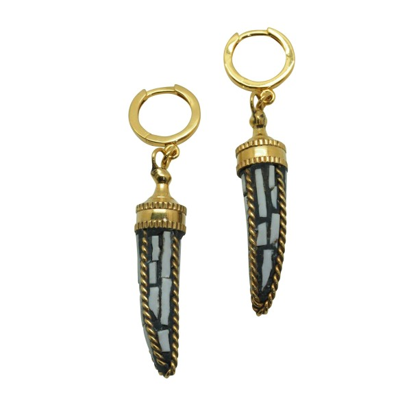 """Tribal Horn"" earrings"