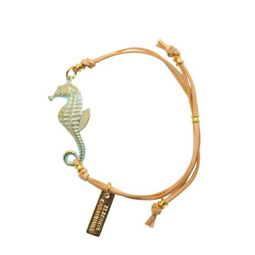 Turquoise adjustable Seahorse bracelet