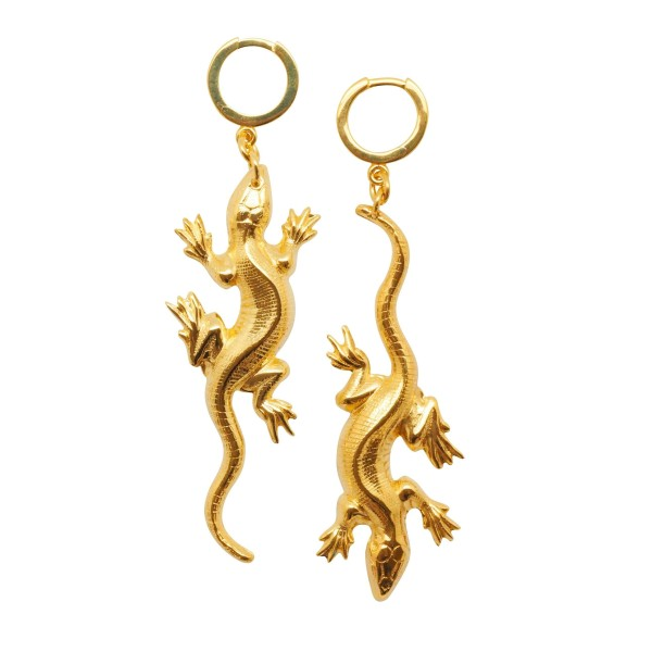 """Lazy Lizard"" earrings"