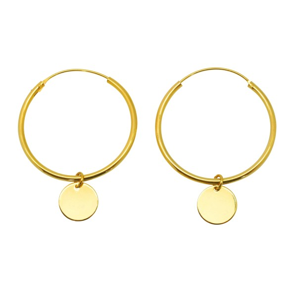 """""""Cowry"""" Hoop earrings"""